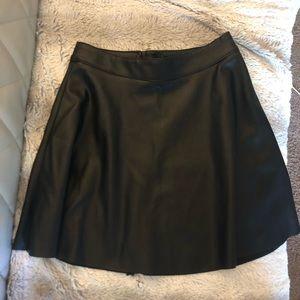 Black skater skirt high rise